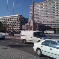 Photo taken at Plaza de Colón by Labebel L. on 12/22/2011