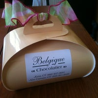 Photo taken at Belgique Chocolatier by Jaclyn O. on 4/7/2012