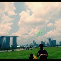 Photo taken at Marina Barrage by Sheeda on 3/25/2012