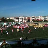 Photo taken at Bornova Stadı by Mehmet E. on 4/23/2012
