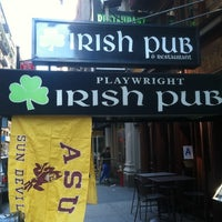 Photo taken at Playwright Irish Pub by Patrick D. on 10/8/2011