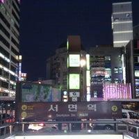 Photo taken at Seomyeon Stn. by DaeHyun S. on 12/20/2011