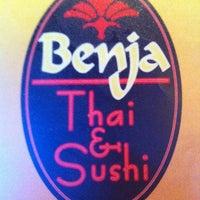 Photo taken at Benja Thai & Sushi by Todd B. on 3/28/2012