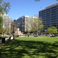 Photo taken at Farragut Square by Michael B. on 4/8/2012