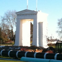 Photo taken at Peace Arch Border Crossing by Tuyen N. on 1/2/2011