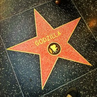 Photo taken at Godzilla's Star, Hollywood Walk of Fame by Andy T. on 11/2/2011
