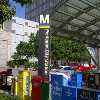 Photo taken at Pentagon City Metro Station by Moni on 8/31/2012
