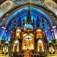Photo taken at Notre-Dame Basilica of Montréal by Steve P. on 7/11/2012