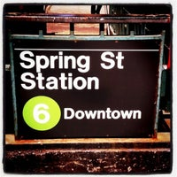 Photo taken at MTA Subway - Spring St (6) by Cage Cafe G. on 4/26/2011
