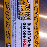 Photo taken at Which Wich? Superior Sandwiches by PainPoint.com on 5/5/2011