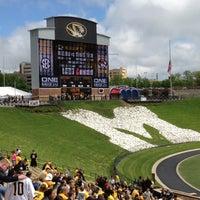 Photo taken at Faurot Field at Memorial Stadium by Teresa Gibbons B. on 4/14/2012