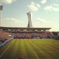 Photo taken at Stade Saputo by Karim K. on 8/25/2012
