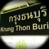 Photo taken at BTS Krung Thon Buri (S7) by Guy J. on 6/23/2012