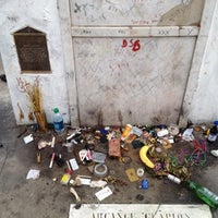 Photo taken at Tomb Of Marie Laveau by Sabrina R. on 8/11/2012
