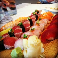 Photo taken at Sushi Sasa by Kelly W. on 6/20/2012