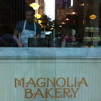 Photo taken at Magnolia Bakery by Stefanie K. on 5/7/2012