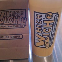 Photo taken at Which Wich? Superior Sandwiches by Mikey on 2/15/2012