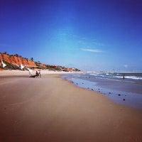 Photo taken at Praia de Canoa Quebrada by Diego M. on 5/1/2012