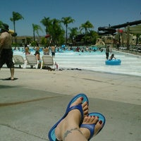 Photo taken at Six Flags Hurricane Harbor by rosie on 6/29/2012