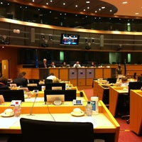Photo taken at European Parliament Meeting Room JAN 2Q2 by Kasia S. on 3/6/2012
