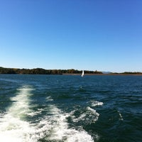 Photo taken at On The Boat At Belews Lake by もじる on 10/16/2011