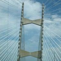 Photo taken at Napoleon Bonaparte Broward (Dames Point) Bridge by Sheena Z. on 4/18/2012