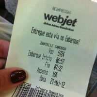 Photo taken at Voo Webjet 5724 by Danielle C. on 5/21/2012