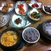 Photo taken at 산골집 by Danbi K. on 10/13/2011