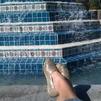 Photo taken at Fluor Fountain by Rachel P. on 11/9/2011