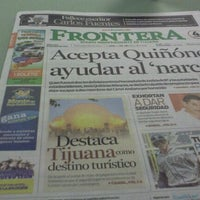 Photo taken at Periodico Frontera by Ario R. E. on 5/16/2012