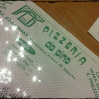 Photo taken at Pizzeria da Pino by Lucky on 3/23/2012