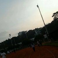 Photo taken at Sasana Olahraga Ganesha (Saraga) by Curio L. on 10/21/2011