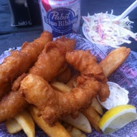 Photo taken at GB Fish and Chips by Gavin O. on 3/31/2012