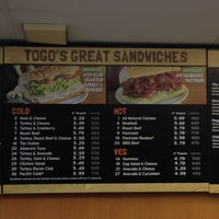 Photo taken at TOGO'S Sandwiches by Robert G. on 5/8/2012