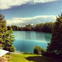Photo taken at Lago e Cascina Boscaccio by Raffaella C. on 6/12/2012
