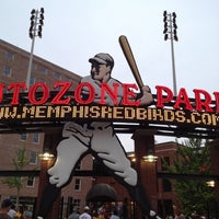 Photo taken at AutoZone Park by Ellie K. on 5/12/2012