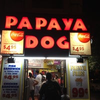 Photo taken at Papaya Dog by Junior M. on 7/9/2012