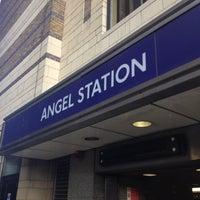 Photo taken at Angel London Underground Station by Fanus W. on 6/29/2012