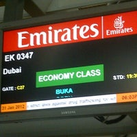 Photo taken at Emirates Checkin Counter by Anson N. on 1/31/2012