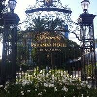 Photo taken at Fairmont Miramar Hotel & Bungalows by Patrick K. on 8/15/2012