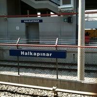 Photo taken at İzban Halkapınar İstasyonu by Ali O. on 7/14/2012