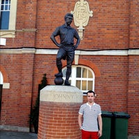 Photo taken at The Johnny Haynes Statue by Alexander B. on 7/22/2012