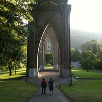 Photo taken at Cathedral Park by Steve R. on 8/14/2011