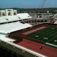Photo taken at Bobcat Stadium by Antoine P. on 3/31/2012