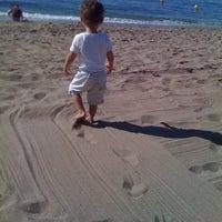 Photo taken at Playa Luna Beach by Tjandra B. on 9/3/2011