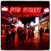 Photo taken at Pub Street by IndochinaTravel.com on 6/22/2012
