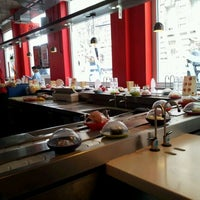 Photo taken at YO! Sushi by Charlie S. on 3/10/2012