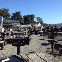 Photo taken at Hog Island Oyster Farm by Sue R. on 5/23/2012