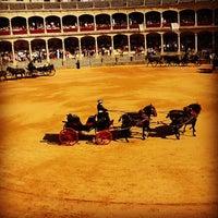 Photo taken at Plaza de Toros de Ronda by Elvira M. on 9/8/2012