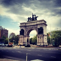Photo taken at Grand Army Plaza by Anthony M. on 4/25/2012